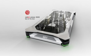 "The driverless transport system ""EcoProFleet"" is right at the top of the winners' podium of the reddot product design award 2020."